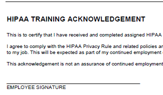 Hipaa compliance forms for employees hipaa compliance for Hipaa training certificate template